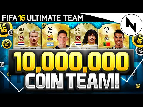 10,000,000 COIN SUPER TEAM! - FIFA 16 Ultimate Team - THE BEST TEAM IN FIFA #08