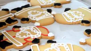 How to make cake How to make Holiday Cookies   Santa Clause Shaped Cookies