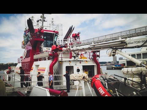 FDNY - SUPER EXCLUSIVE On Board of FDNY 343 Fireboat