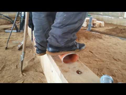 Краш-тест 110мм труб  канализации