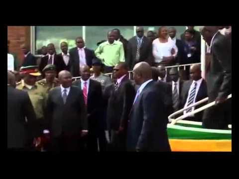 90 Year Old President Mugabe Falls Down A Set Of Stairs