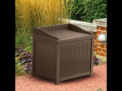 resin wicker storage seat suncast ssw1200 mocha reviews