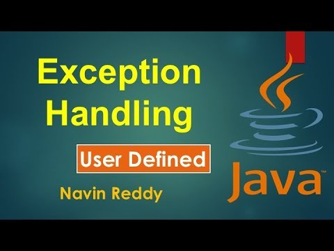 #9.5 Exception Handling | User Defined