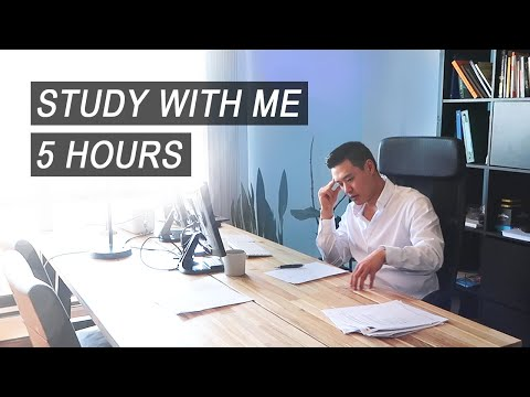 5-HOUR Study With Me | Medical Student (w/ Music)