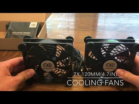 Unboxing And Testing The 120mm AC Infinity Dual USB Fans For COOLING Our LED LIGHTING SYSTEM!!!