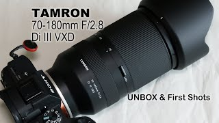 Tamron70-180mm F/2.8 Di III VXD UNBOX & First Shots
