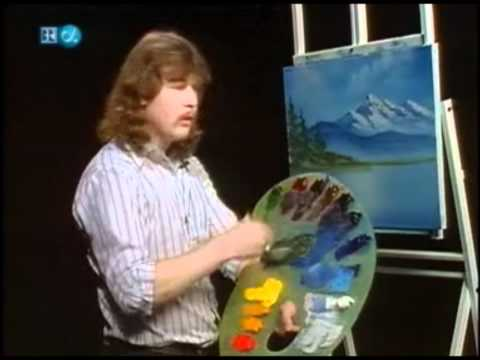 Bob Ross lets his son steve on the show
