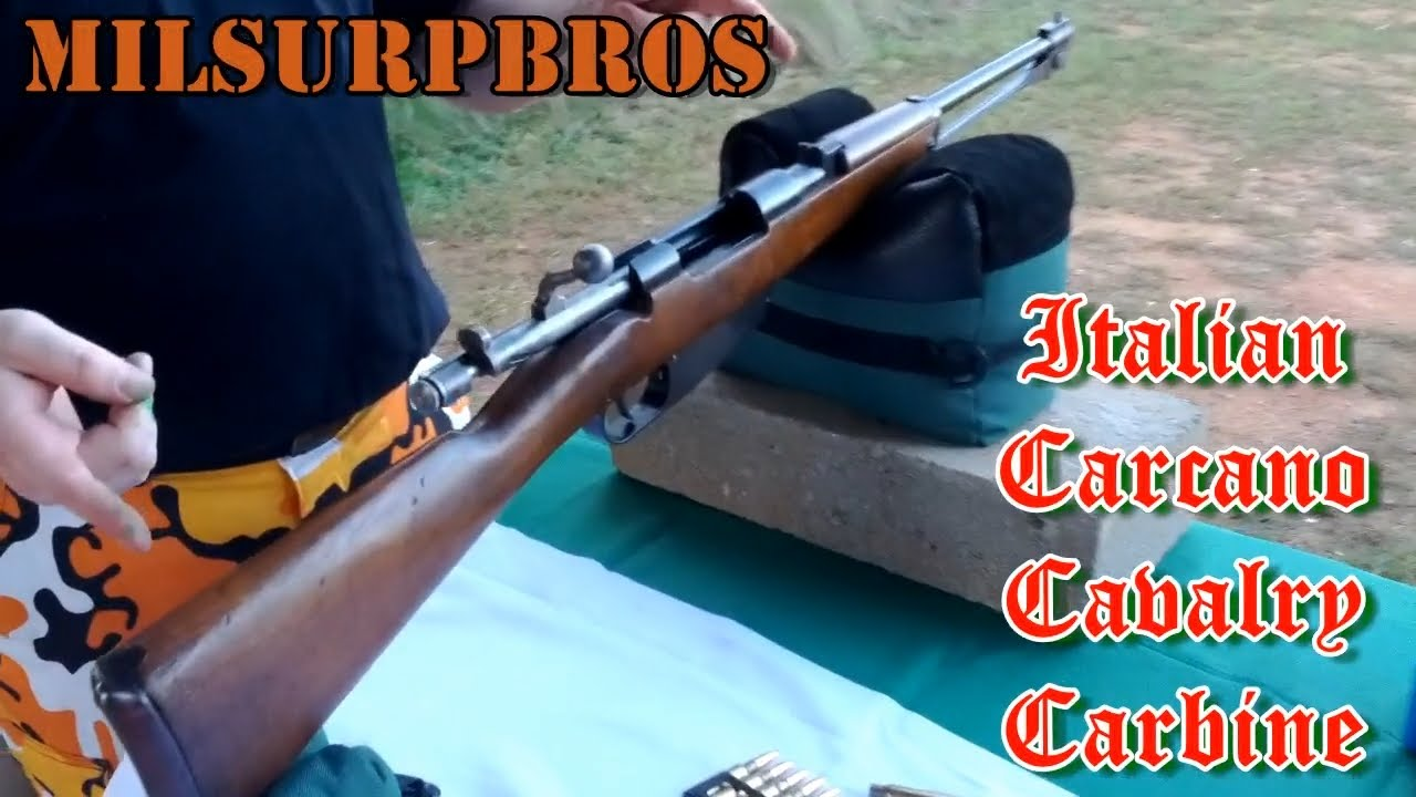 Italian Carcano Cavalry Carbine Shooting and Bolt Disassembly (6 5x52mm  Mannlicher-Carcano)