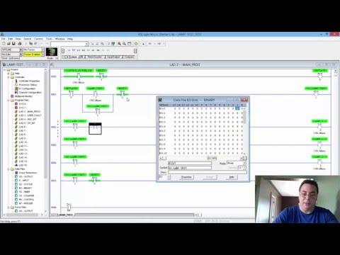 Programming Allen Bradley SLC-500 ControlLogix PLC intro