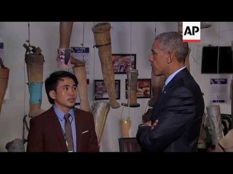 President Obama Tours Laotian Rehab Center