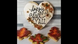 Cookie Decorating Videos by The Cake Way Decorating Fall Cookies