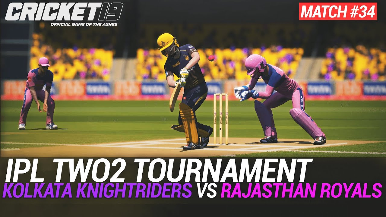 CRICKET 19 - IPL2020 TWO2 - MATCH #34 - KOLKATA KNIGHTRIDERS vs RAJASTHAN ROYALS