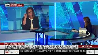 Sky News - 21 March 2018 - Veterans Employment Policy