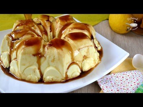 Flan o gelatina de limon y leche condensada. Postre fácil y delicioso. Una receta que funciona