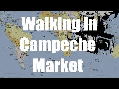 Walking in Campeche Market, Yucatan, Mexico | GoPro 4 Silver | Virtual Trip