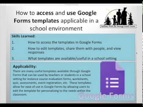 How to find and use Google Form templates applicable in a school setting