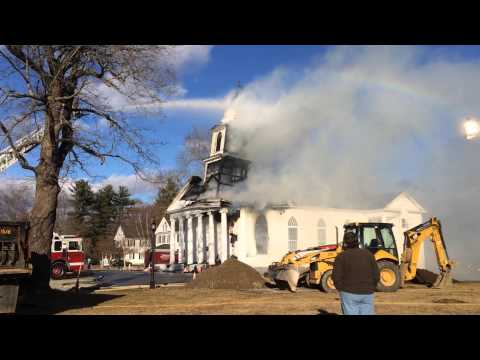 Pomfret's First Congregational Church Steeple Collapse