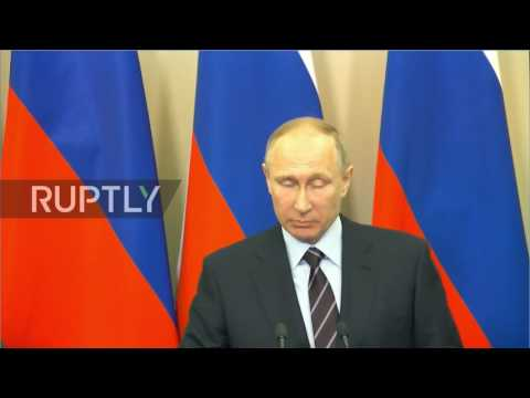 Russia/State of Palestine: Putin and Abbas address opening of Bethlehem cultural centre