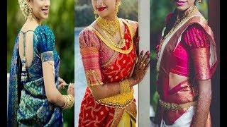 6d0be7b175921a Latest Puff Sleeve Blouse Designs For Silk Saree 2018