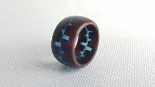 Purpleheart and Epoxy Resin Ring | WoodTurning
