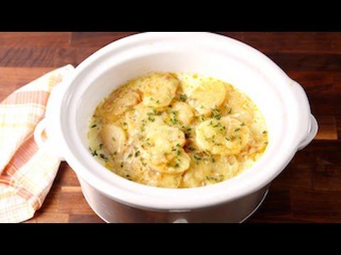 Slow-Cooker Scalloped Potatoes   Delish