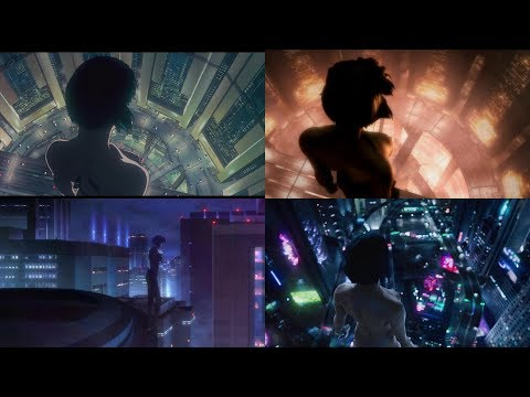 Ghost in the Shell - Fall Scene Comparison 1.0, 2.0, Individual Eleven, and Live Action