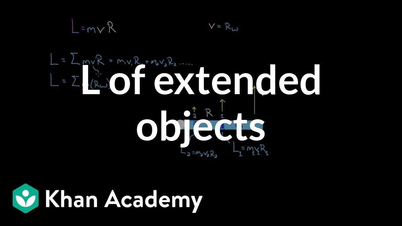 Angular momentum of an extended object (video) | Khan Academy