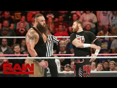 Sami Zayn vs. Braun Strowman: Raw, Oct. 24, 2016