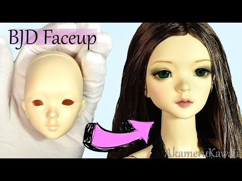 How to: BJD Faceup - SupiaDoll Minisup Doll Makeover Tutorial