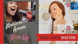 Morissette Amon Rise Up - Vocal Coach Reaction (on Wish 107.5)