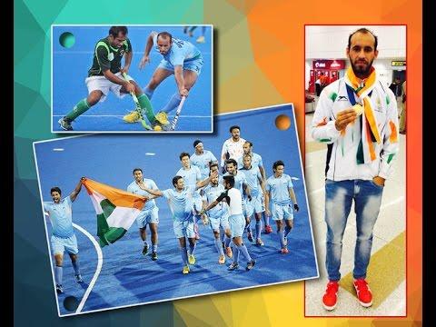 Ramandeep Singh Bal, International Hockey Player on Ajit Web TV.