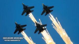 Russian Air Force: Air Show 2018 - Ka-52 Alligator - Mil Mi-28 - Su-30SM - MiG-29 - Russian Knights