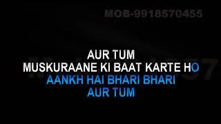 Aankh Hai Bhari Bhari Karaoke Kumar Sanu