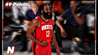 James Harden RIDICULOUS 49 Point Game vs Mavericks Full Game highlights | August 1, 2020 | 2019-20