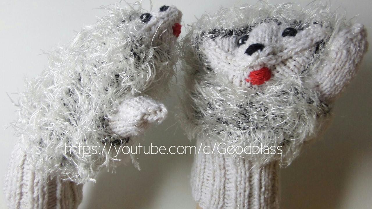 Детские варежки ежики. Вязание спицами. Часть 1 Knitting(Hobby)