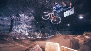 Underground MTB Dirt Jump Session in the Mega Cavern