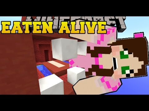 Minecraft: A MONSTER EATS US! - HIDDEN BUTTONS - Custom Map