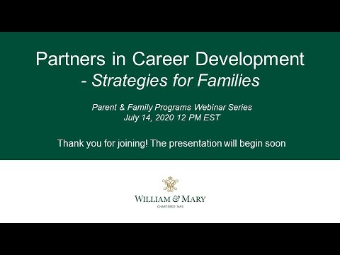 Partners in Career Development: Strategies for Families