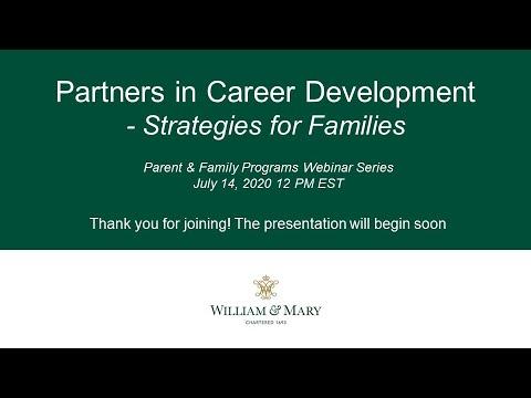 Partners in Career Development: Strategies for Families