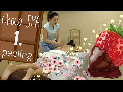 🍫ШОКОЛАДНОЕ SPA обёртывание - 1 часть. Пилинг всего тела | SPA chocolate