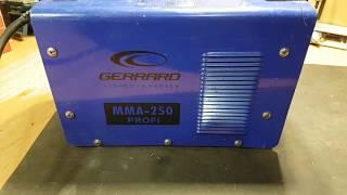 Ремонт аппарата Gerrard MMA 250 Profi или как делать не надо.