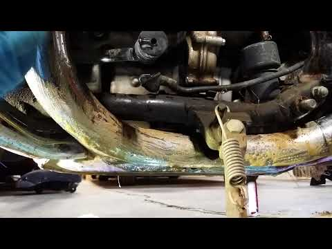 Clean rusty motorcycle exhaust in minuets. You must see this!
