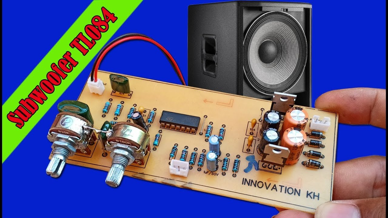 Building Subwoofer Controller IC TL084 circuit at home