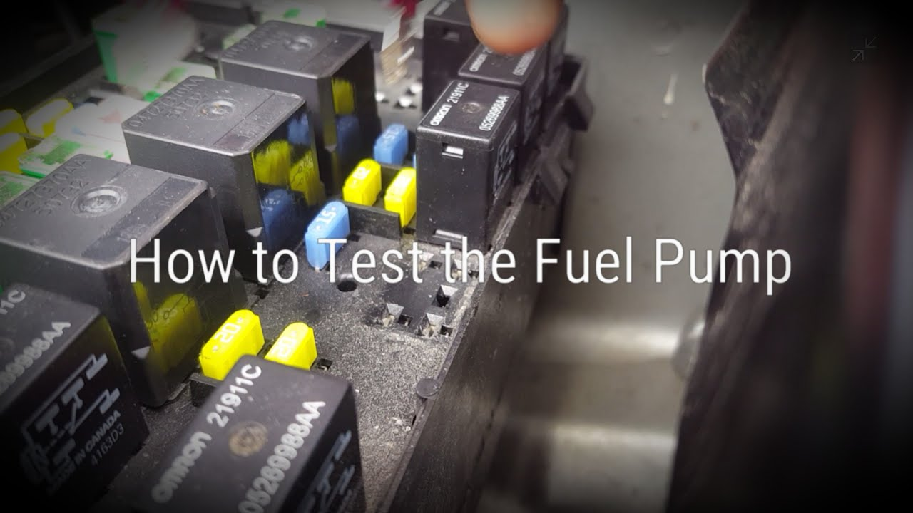 How to Test the Fuel Pump: 20012007 CaravanTown & Country  YouTube
