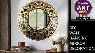 DIY Wall hanging mirror decoration | Roo...