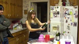 Poppin The Cork For Punch On New Year's Eve 2012