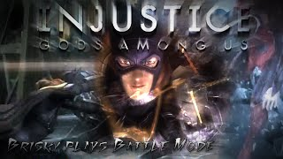 Brisky Plays: Injustice: Gods Among Us - Batgirl vs Classic Battles! [Medium]