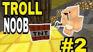 Minecraft PE Troll Baby NOOB | cây vàng chứa TNT !!! #2
