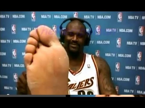 Shaquille O'Neal feet - YouTube