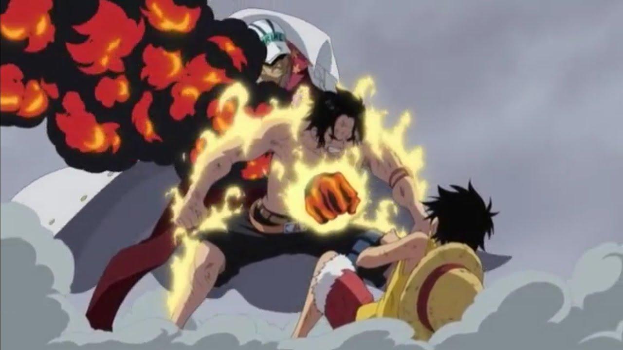 One Piece La morte di Ace pugno di fuoco ITA(Parte 1 ...